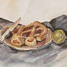 Pear and Pie Still Life by MegJay