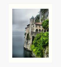 Eremo of Santa Caterina al Sasso - Lake Maggiore Art Print