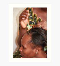Traditional Hair Braiding Art Print