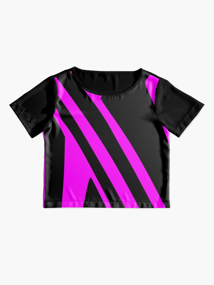 Alternate view of BLACK and PINK DAZZLE Chiffon Top