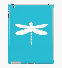 Dragonfly (white on blue) iPad Case/Skin