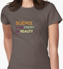 Science is the Poetry of Reality Womens Fitted T-Shirt