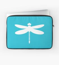 Dragonfly (white on blue) Laptop Sleeve