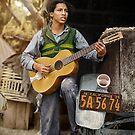 young mexican guitar player 1935 von Mario  Unger