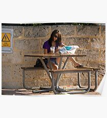 Girl at a Table Poster