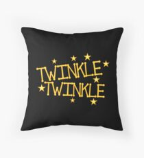 TWINKLE TWINKLE little stars Childrens nursery rhyme Throw Pillow