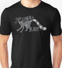Crazy Lemur lady  Unisex T-Shirt