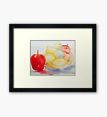 Life Should Be a Bowl of Fruits Framed Print