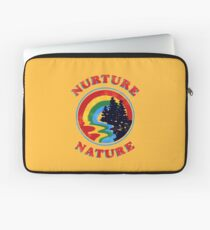Nurture Nature Vintage Environmentalist Design Laptop Sleeve