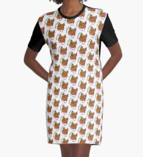 Chickthulhu Graphic T-Shirt Dress