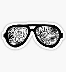Zentangle Sunglasses Sticker