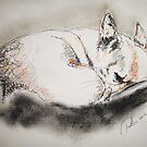 Sleeping Chihuahua Scribble Pets by Pasha by goddamnmedia