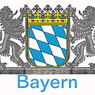 Bavaria coat of arms with heart shield by edsimoneit