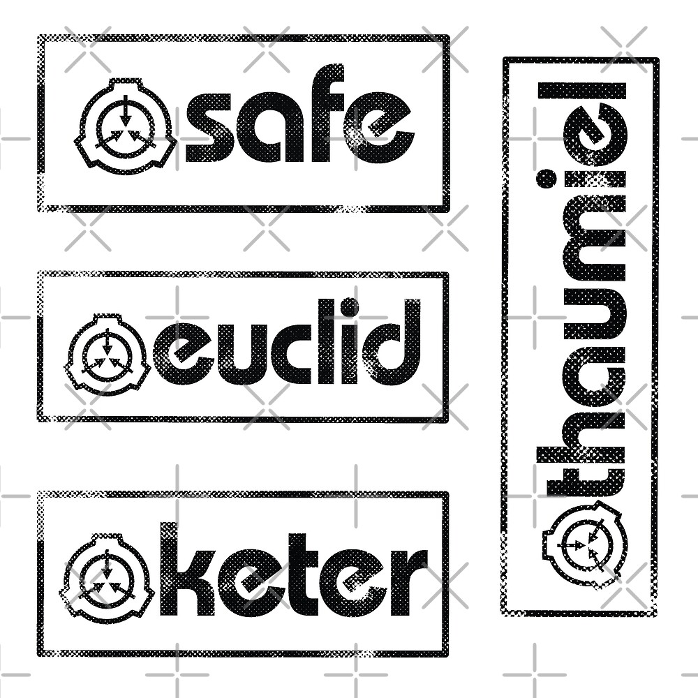 Scp Foundation Object Classes Thaumiel Keter Euclid Safe Stickers By Opalskystudio Redbubble Thaumiel class are the most dangerous of all scps. redbubble