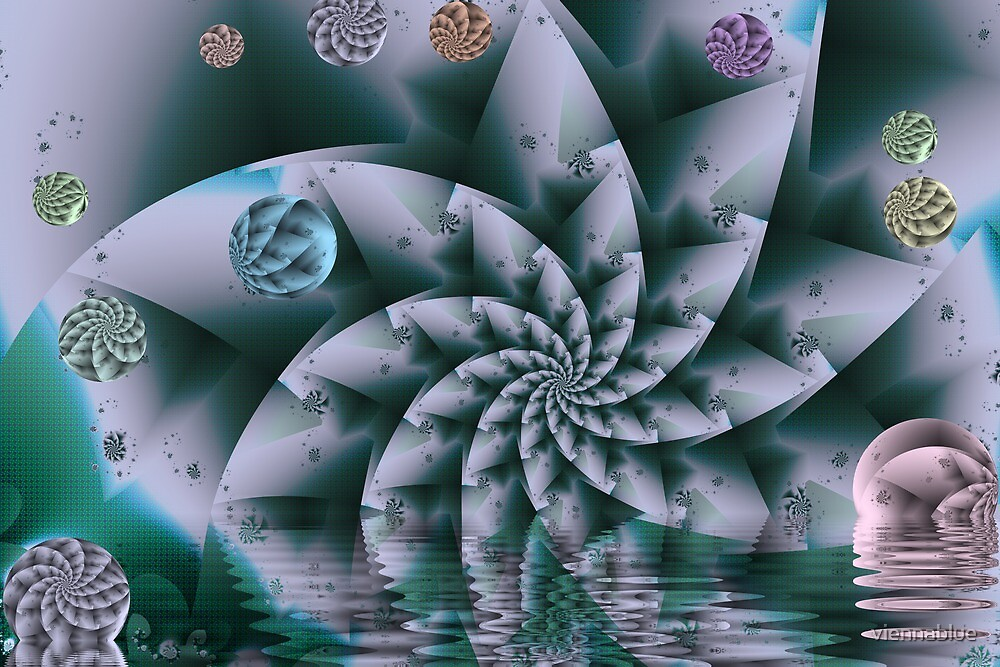 Escher's Polar Star Landscape I by viennablue