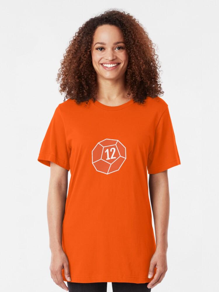 Alternate view of Decahedron Die Slim Fit T-Shirt