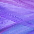 Purple Abstract Lines Watercolor Painting by blueskywhimsy