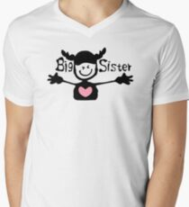 Big sister txt cute smiley face girl One Piece Mens V-Neck T-Shirt