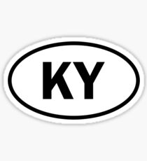 Kentucky - KY - oval sticker and more Sticker