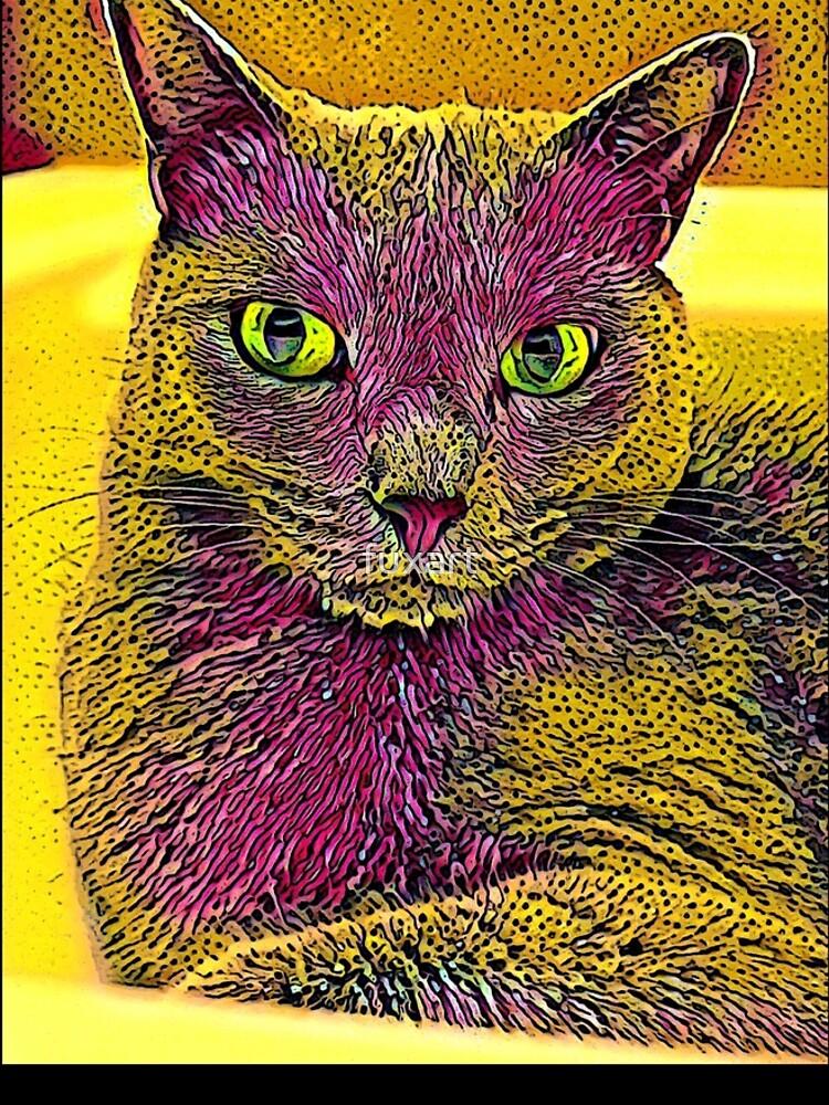 CAT ART PINKGELB von fuxart