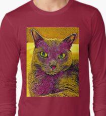 CAT ART PINKGELB Langarmshirt