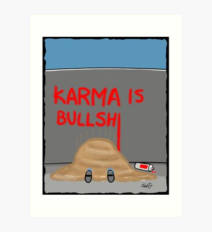 Karma Cartoon Art Print