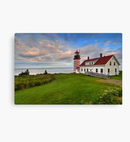 West Quoddy Light - Maine Canvas Print