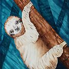 Sloth Hangin Out by Watercolor Naturalist
