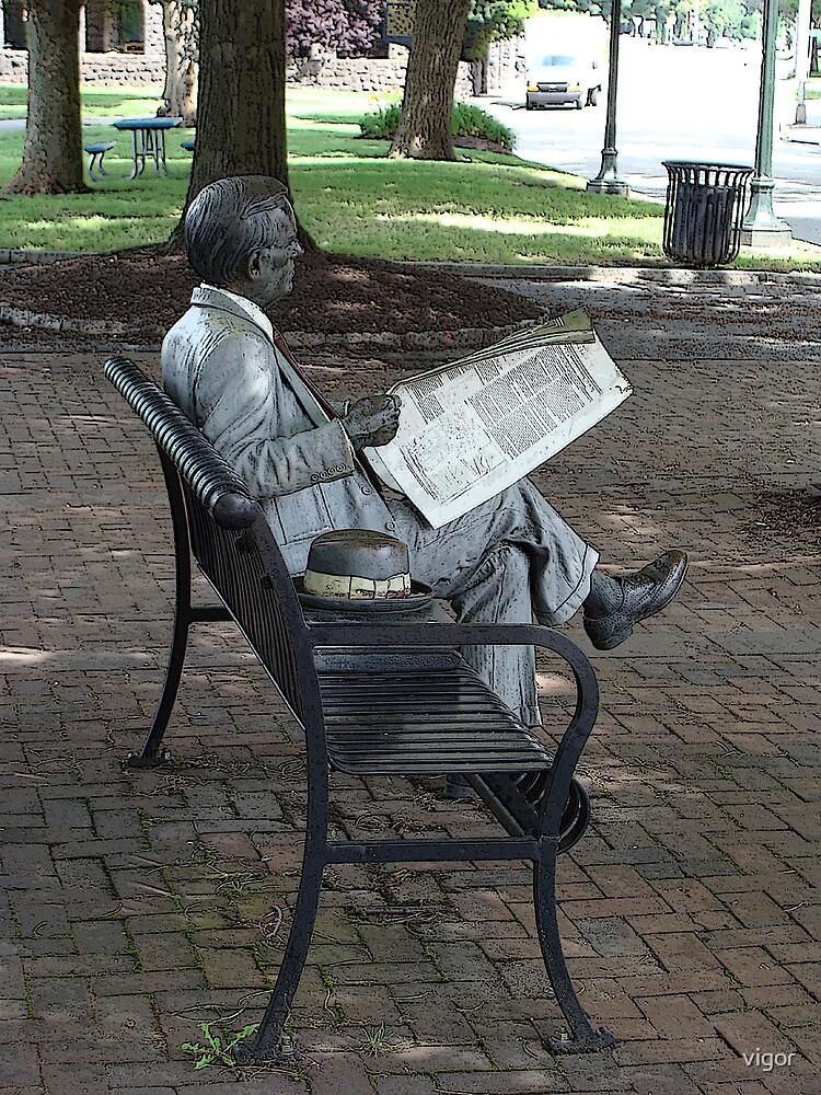 Newspaper Reader by vigor