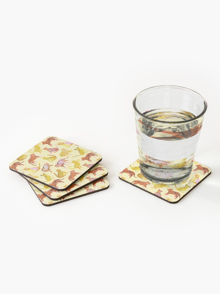 Alternate view of Tigers and Leopards Africa Savannah Coasters (Set of 4)