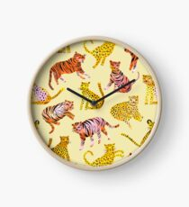 Tigers and Leopards Africa Savannah Clock