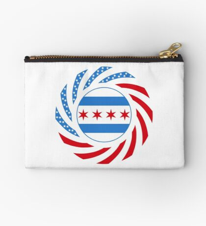Chicago Murican Patriot Flag Series Zipper Pouch