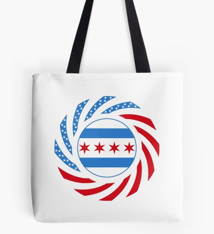 Chicago Murican Patriot Flag Series Tote Bag