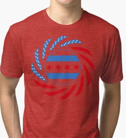 Chicago Murican Patriot Flag Series Tri-blend T-Shirt