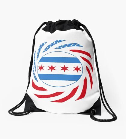 Chicago Murican Patriot Flag Series Drawstring Bag