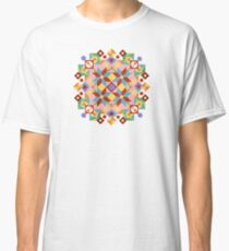 Pink Rolling Star Quilt Design Classic T-Shirt