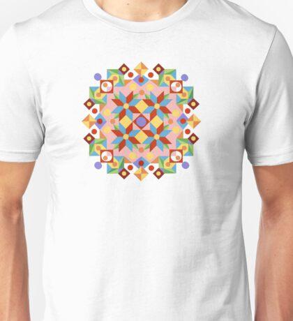 Pink Rolling Star Quilt Design T-Shirt