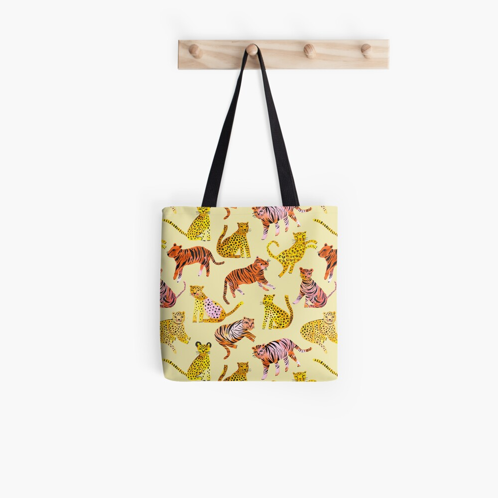 Tigers and Leopards Africa Savannah Tote Bag