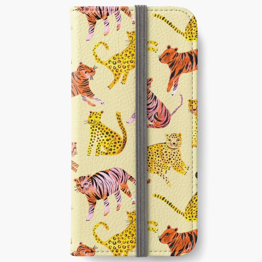 Tigers and Leopards Africa Savannah iPhone Wallet