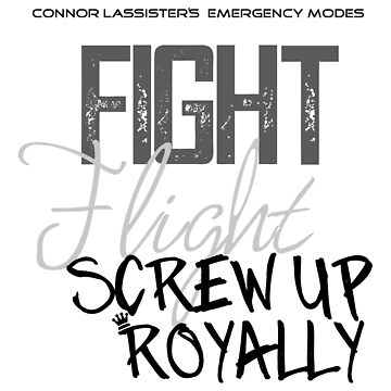 Connor Lassister's Emergency Modes by LightRoseGirl