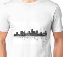 St Paul, Minnesota Skyline - B&W Unisex T-Shirt