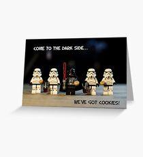 Dark Side Cookies Greeting Card