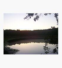 Sunset on Albritton's Pond Photographic Print