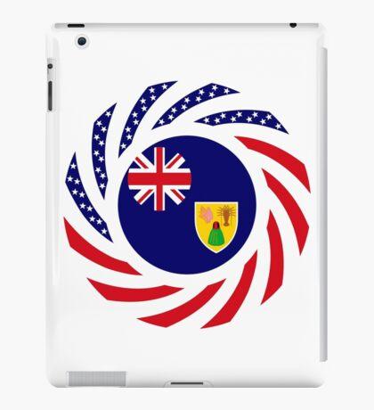 Turks & Caicos Islander American Multinational Patriot Flag Series iPad Case/Skin