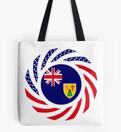 Turks & Caicos Islander American Multinational Patriot Flag Series Tote Bag