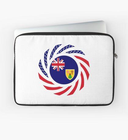 Turks & Caicos Islander American Multinational Patriot Flag Series Laptop Sleeve