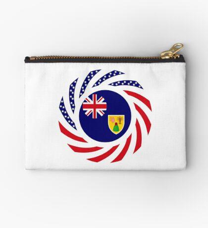 Turks & Caicos Islander American Multinational Patriot Flag Series Zipper Pouch