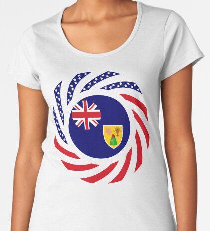 Turks & Caicos Islander American Multinational Patriot Flag Series Premium Scoop T-Shirt