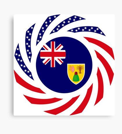 Turks & Caicos Islander American Multinational Patriot Flag Series Canvas Print