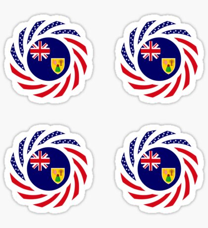 Turks & Caicos Islander American Multinational Patriot Flag Series Sticker